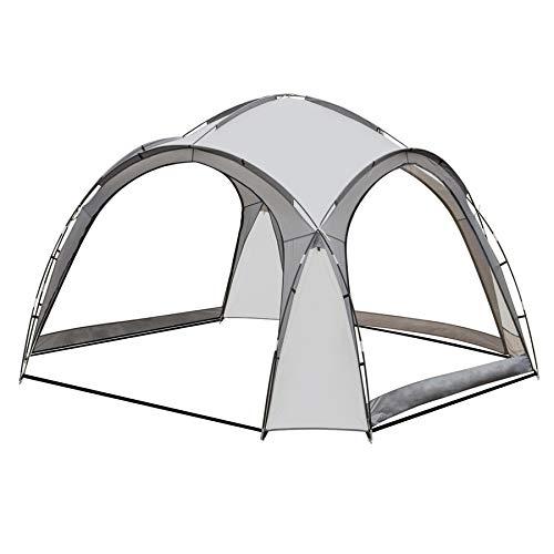 SANHENG Camping Gazebo, Dome Shelter 3.5m x 3.5m Event Marquee Gazebo Sun Shade (Grey)