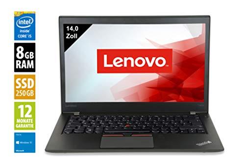 Lenovo ThinkPad T460-14,0 Zoll - Core i5-6300U @ 2,4 GHz - 8GB RAM - 250GB SSD - FHD (1920x1080) - Webcam - Win10Home (Zertifiziert und Generalüberholt)
