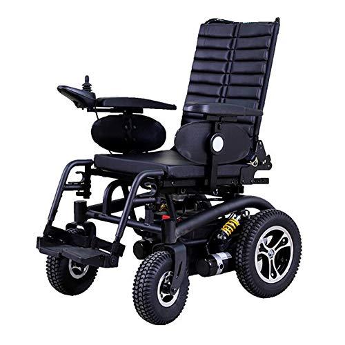 AINIDEMA Elektrische rolstoel voor buiten, dubbele functie, intelligent, compleet automatisch, 4 wielen, draaggewicht 350 kg