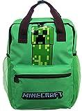 Mochila Minecraft Creeper Mochila Oficial con Apoyos Niño Escuela 4320 - Verde, Única
