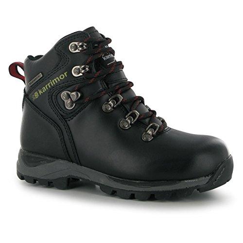 Karrimor Kinder Jungen Skido Wanderschuhe Stiefel Wasserdicht Trekking Schuhe Schwarz 3 (36)