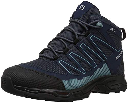 Salomon Women's Pathfinder Mid ClimaSheild Waterproof Hiking Boots, India Ink/Navy , 9 M US