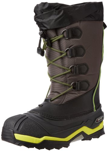 Hot Sale Baffin Men's Icebreaker Snow Boot,Charcoal/Fluorescent Green,12 M US