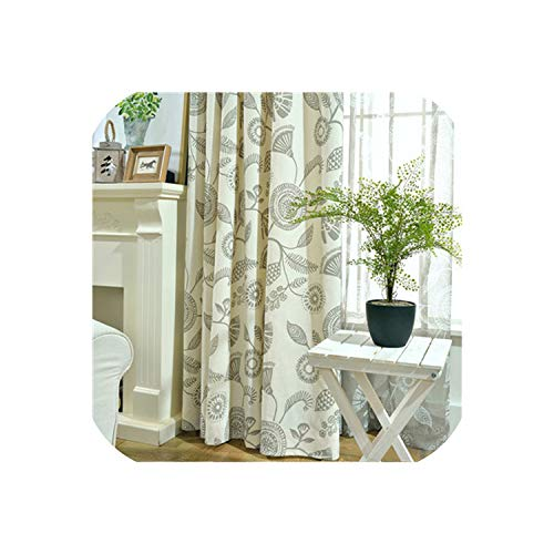 Perfect-display Modern Tulle Window Curtains for Living Room The Bedroom The Kitchen Cortina(Rideaux) Memory of The South Blinds Drapes,Ivory Grey,W300xL250cm,Hooks