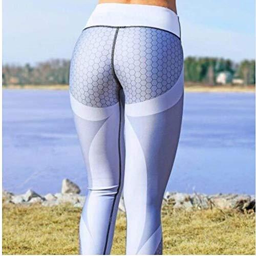Leggings Mesh Pattern Print Fashion High Waist 3D Leggings Women Sexy Hip Push Up Pants Legging Jegging Gothic Leggins Jeggings Leggings M 2