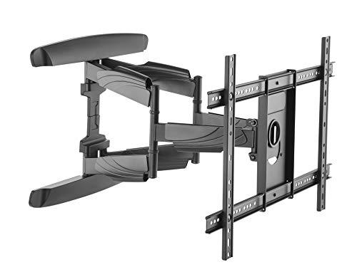 RICOO S0664 TV Wandhalterung Schwenkbar Neigbar Universal 37-75 Zoll (94-191cm) TV-Halterung für Curved LCD LED Fernseher VESA 300x200-600x400