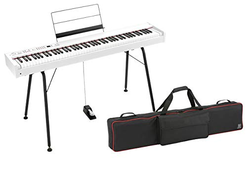 KORG コルグ - デジタルピアノ D1 WH ホワイト + 純正スタンド ST-SV1-BK + 純正ソフトケース SEQUENZ SC-D...