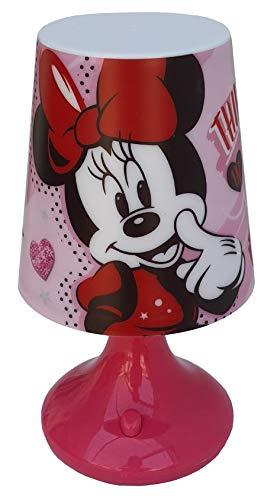 Lámpara Minnie Mouse Disney Mesita de noche a pilas Paquete regalo – WD21232