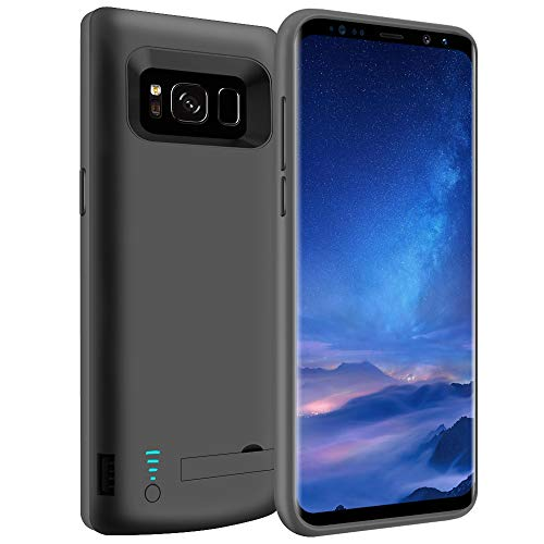 LOYTAL Battery Case for Samsung Galaxy S8, 5000mAh Rechargeable Extended Battery Charging Case, External Battery Charger Case, Backup Power Bank Case with Kickstand