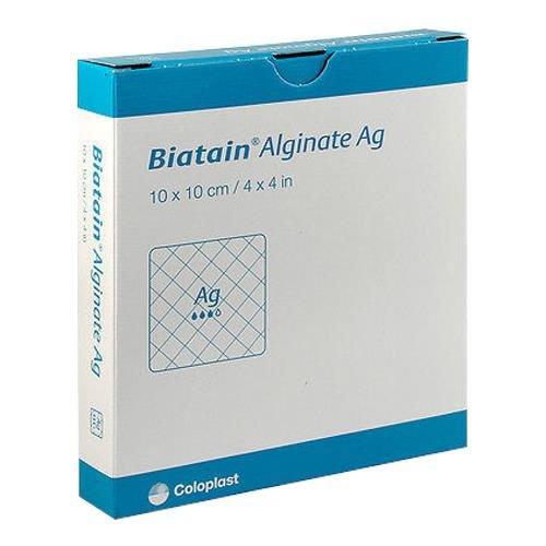 Biatain Alg Ag Alginate Apósitos (paquete de 10)