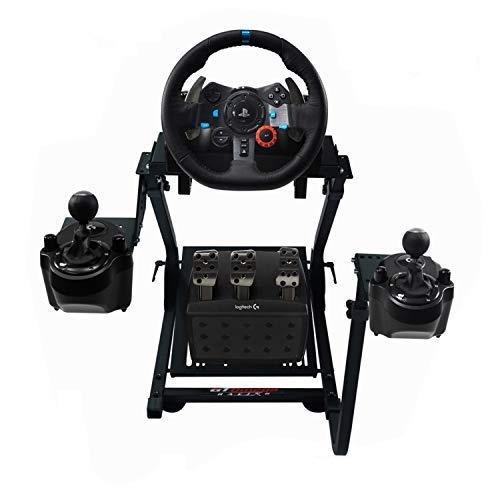 GT Omega Lenkradständer PRO für Logitech G920 G923 G29 Racing Wheel - Pedale & Schalthebelhalterung V1 - Unterstützung des Fanatec Clubsport PS4 Xbox - Neigungsverstellbares