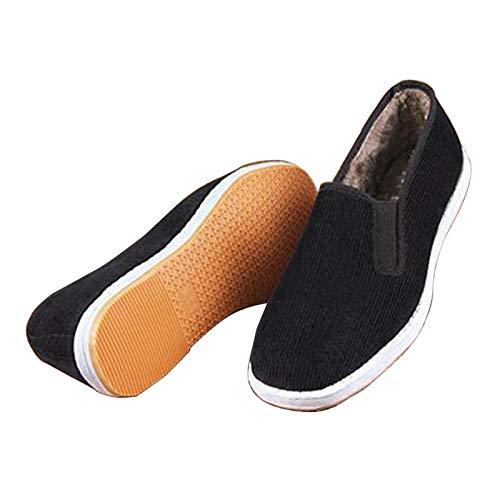 Xu-shoes Pana Invierno Mantener Abrigados Zapatos De Tai Chi Ejercicio Interiores Mocasines...