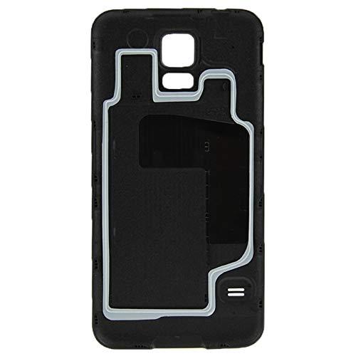 BACKBATTERYDOOR/Funda De Batería De Plástico Función Impermeable para Galaxy S5 / G900, Reemplazo para la Cubierta de Vidrio de la cámara Trasera (Color : Negro)