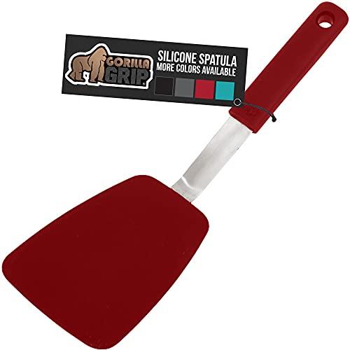 Gorilla Grip Nonstick Flexible Silicone Spatula, Nonporous, Heat Resistant, No Scratch Kitchen...