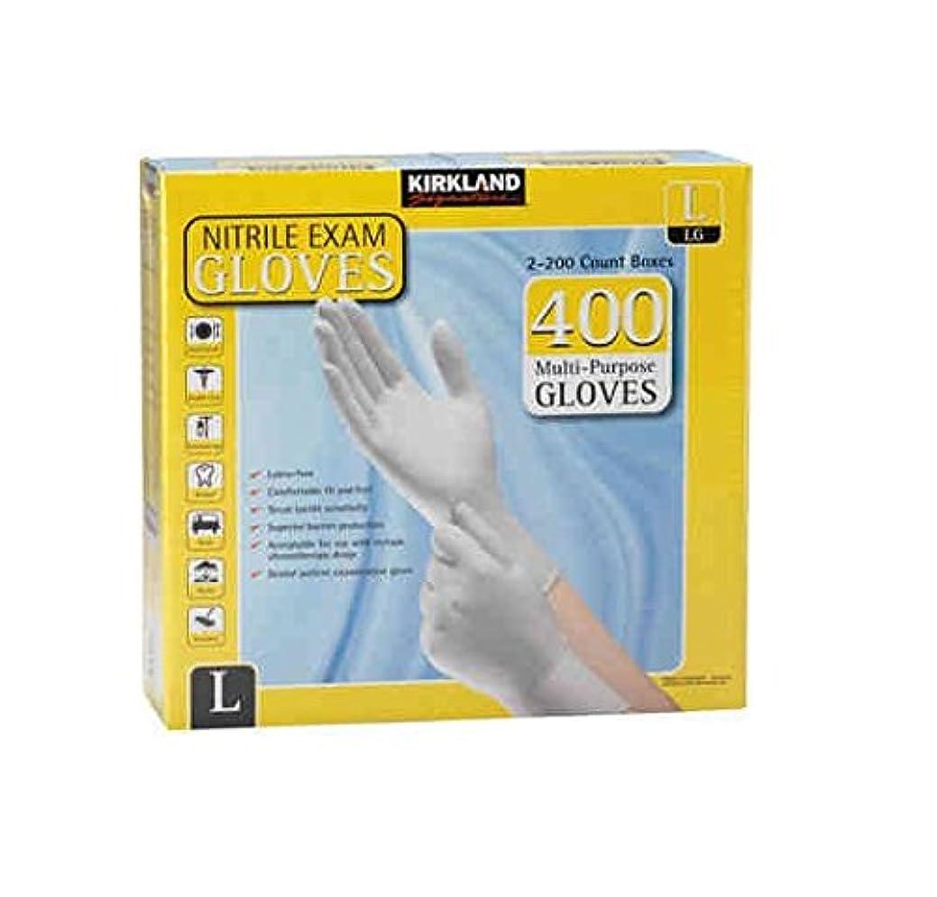 返済窓を洗う電化するKirkland Signature Nitrile Exam Multi-Purpose Large Gloves Latex-free 200-Count , (Total 400-Count Gloves) by Kirkland Signature