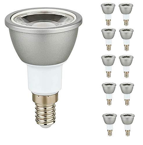 10er Packung 6 Watt LED Strahler Spot 600 Lumen E14 warmweiß Schraubsockel 251