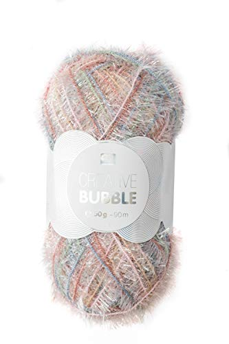 Rico Design Wolle Bubble Print 90m Badeschwämme Duschtiere Rosa-Patina