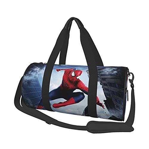 Superhero - Bolsa de viaje redonda para gimnasio, bolsa de viaje para deportes, fin de semana, bolsa de hombro, 17.7 pulgadas x 9 pulgadas