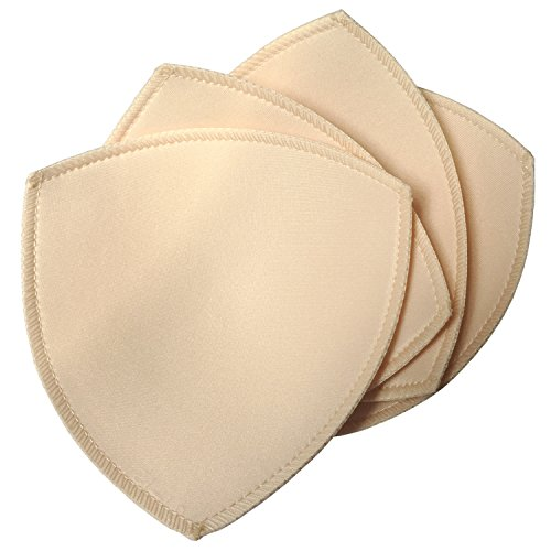 DayKit 2 Pairs Removeable Triangle Bra Pads Inserts for Bikinis Tops Sports Bra Swimsuit for A B C Cups Beige