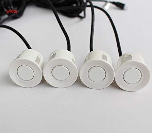 Lowest Price! White, 1.5 : Exibição Kit 4 Sensores do Carro LEVOU Sensor de Estacionamento GreenY...