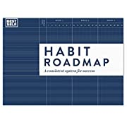 """Habit Roadmap by BestSelf - Visual Tool to Establish and Track Good Habits That Make Success Inevitable - Two 25.5"""" x 5.75"""" 13-Week Habit Trackers for Goal Setting and Achievement"""