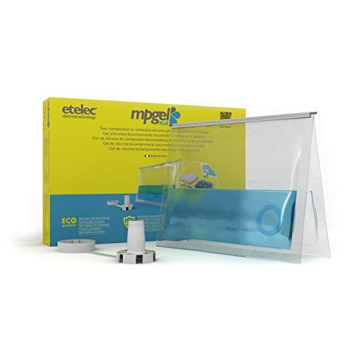 ETelec - Kit de MPgel de 0,200 litros, gel aislante de silicona bicomponente, relleno de sellado, cajas de derivación fino1 kV, paquete de bolsa extraíble 200 ml, MP240