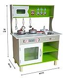 Bebe Style Wk-Lm9028green Kiddi Style Große Moderne Kinderküche & Spielküche In Pastellfarben – Puppenküche Aus Holz, Rosa