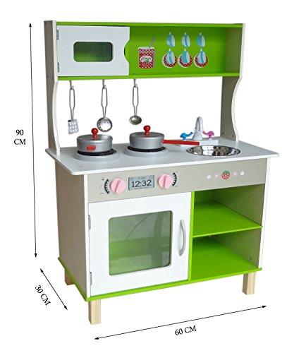 Kiddi Style Grote moderne kinderkeuken & speelkeuken in pastelkleuren – poppenkeuken van hout