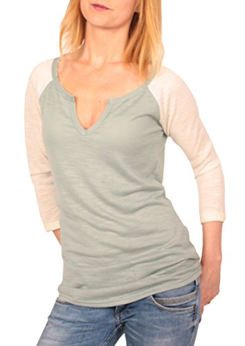 Ella Manue dames Raglan Baseball Serafino Shirt Joy