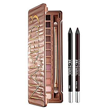Urban Decay Eye Makeup Set - Naked3 Eyeshadow Palette + 24/7 Glide-On Waterproof Eyeliner Pencil Duo