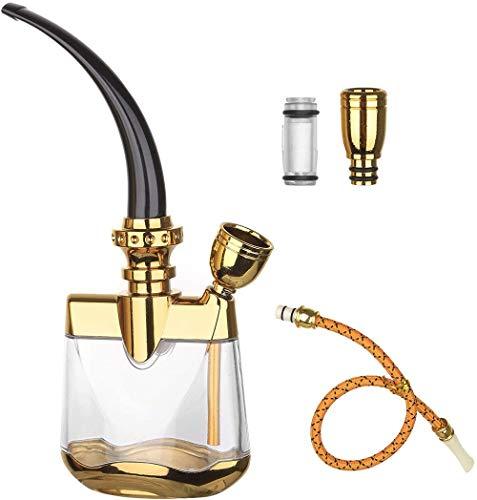DJR Mini Shisha Filter Hookah Manguera, Puede Agregar Cubitos de Hielo para la filtración de sustancias peligrosas Mini Hookah