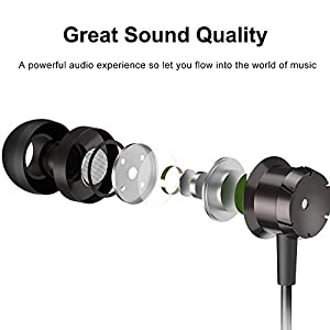 Earphones 3 Pack in-Ear Headphones with Microphone,3.5mm Wired Earbuds for iOS and Android Smartphones, Laptops, MP3, Gaming, Walkman(Black+White+Red)