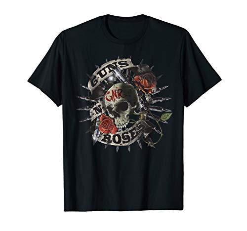 Guns N' Roses Skull Floral T-Shirt T-Shirt