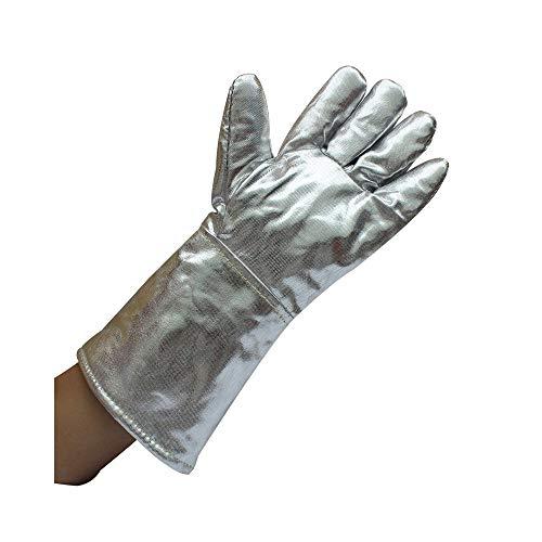 HUACHEN-CHAO Arbeitshandschuhe Durable Unisex Handschuhe Aluminium Verbrühschutzhandschuhe Aluminiumfolie Industriehandschuhe, 14,57