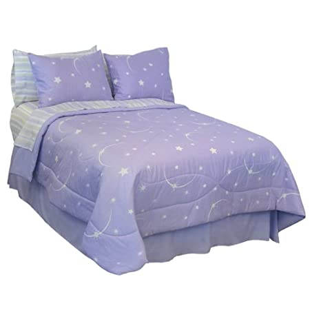 purple glow in the dark bedding for girls bedrooms