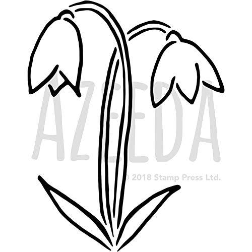 Azeeda A4 'Schneeglöckchen' Wandschablone / Vorlage (WS00013972)