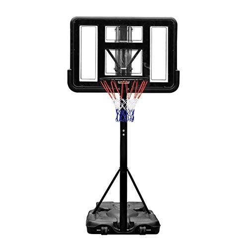Lowest Price! JINDEN Backboard Portable Basketball Hoop Indoor Outdoor Adjustable Height Backboard Basketball Hoop for Kids Adults Basketball Court Equipment