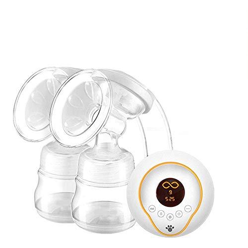 HJTLK Milchpumpe, doppelte elektrische Stillpumpen, Babymilchextraktor, mit fünf konvexen Massagepunkten, hochauflösendem Bildschirm