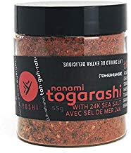 YOSHI Shichimi/Nanami 7-Spice Togarashi Dry Chili Blend Seasoning With Sea Salt, 55g (1.94oz)   Japanese Chile Spice Blend, Use On Udon and Soba Dishes, Potatoes, Fries, Steamed Vegetables, and More