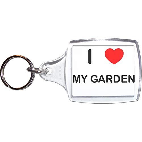 BadgeBeast.co.uk I Love My Garden - Grande portachiavi in plastica