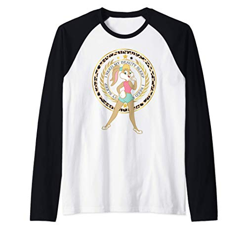 US Looney Tunes Lola Bunny Beauty Sleep 01 LIGHT Camiseta Manga Raglan