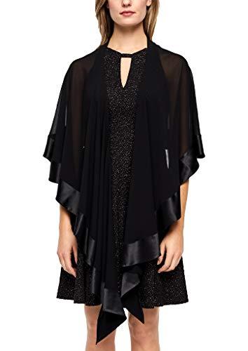 s.Oliver BLACK LABEL Damska bluzka 70.911.91.6141, czarny (Forever Black 9999), jeden rozmiar