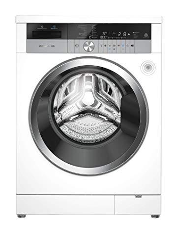 GRUNDIG GWN 48430 XIW Waschvollautomat/ 1400 U/min/LC-Display mit Sensortasten/InstantWear Technologie/StainCare Fleckenprogramm/Inverter EcoMotor - 10 Jahre Motorgarantie/A+++ Weiß