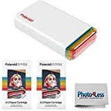 Polaroid Hi-Print 2x3 Pocket Photo Printer + Polaroid 2' x 3' Hi-Print Cartridge - 2 Pack (40 Sheets)