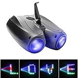 UKing - Proiettore a doppia testa da 20 Watt, 128 LED RGBW, effetto palcoscenico, illuminazione per DJ, feste, matrimoni …