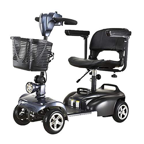 Scooter Eléctrico para personas con Movilidad Reducida   Fácilmente desmontable (Azul)