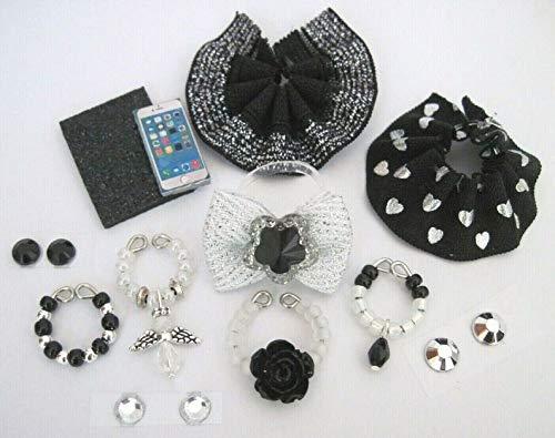 Littlest Pet Shop LPS 12 PC Clothes Black Accessories Custom Skirts Bow Necklace
