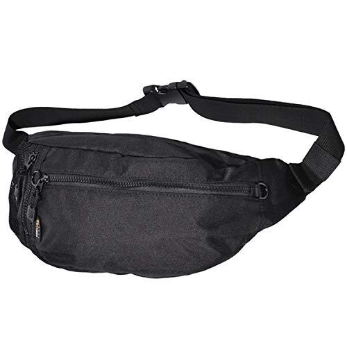 [BENEDETTA] ボディバッグ メンズ CORDURA (コーデュラ) メッシュポケット付き ウエストバッグ 斜めがけ 大容量 黒 SS-7607p