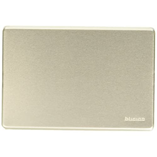 BTicino 503/0/X/F Magic Placca, Cieca, Alluminio Anodizzato, Argento