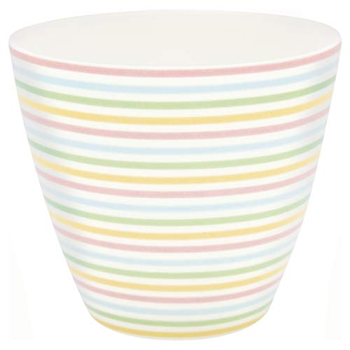 GreenGate - Tasse, Becher, Kaffeetasse, Latte Cup - Ansley - Porzellan - weiß - 300 ml